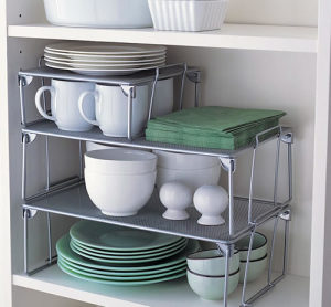 stackable kitchen shelves